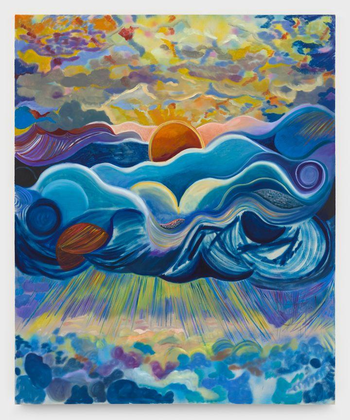 Shara Hughes, Tuck (2021). Oil and acrylic on canvas