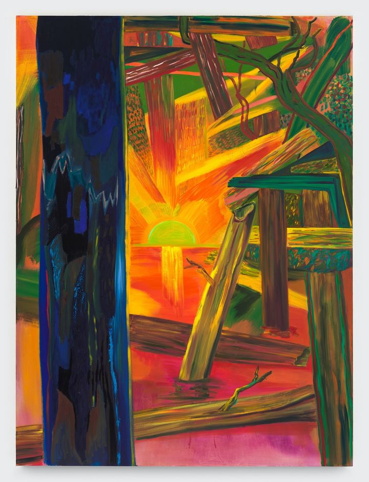 Shara Hughes, Be Bold (2021). Oil, acrylic, and dye on canvas.