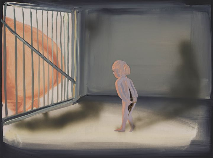 Tala Madani, Impressions (2021). Oil on linen. 45.7 x 61 x 2.5 cm. Courtesy the artist and Pilar Corrias, London.