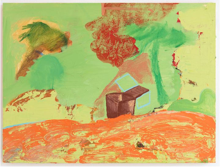 Walter Price, An activity of the spirit (2018–2019). Acrylic on wood. 45.7 x 61 x 2.5 cm. Courtesy Greene Naftali.