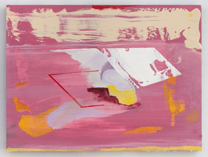 Walter Price, Learning to love (2020). Acrylic, super white, and gesso on wood. 45.9 x 61.1 x 4.1 cm. Courtesy the artist, The Modern Institute/Toby Webster Ltd., Glasgow and Greene Naftali, New York.