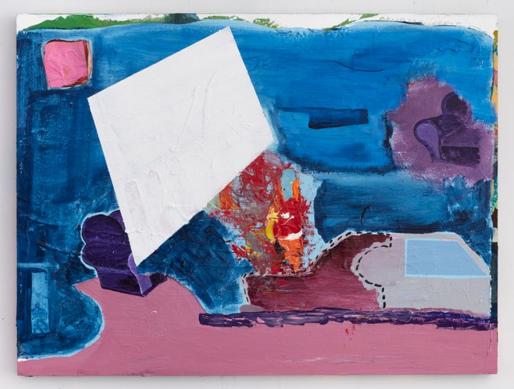 Walter Price, To accelerate the mayhem (2020). Acrylic and gesso on wood. 45.7 x 61 x 3 cm. Courtesy the artist, The Modern Institute/Toby Webster Ltd., Glasgow and Greene Naftali, New York.