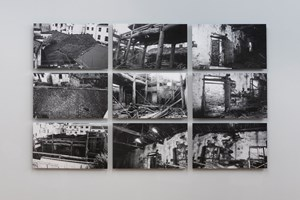 AI WEIWEI Wang Family Ancestral Hall Photographs, 2015. 9 b/w prints 79 x 48 x 3,5 cm each. Courtesy: the artist and GALLERIA CONTINUA, San Gimignano / Beijing / Les Moulins. Photo by: Oak Taylor-Smith