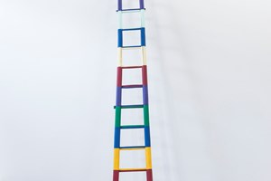 AI WEIWEI Ladder, 2015. Wood and paint 601 x 82 x 15 cm. Courtesy: the artist and GALLERIA CONTINUA, San Gimignano / Beijing / Les Moulins. Photo by: Oak Taylor-Smith