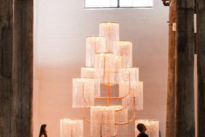 AI WEIWEI Chandelier, 2015. Copper, crystal and light fixtures 400 x 241 x 231 cm. Courtesy: the artist and GALLERIA CONTINUA, San Gimignano / Beijing / Les Moulins. Photo by: Oak Taylor-Smith