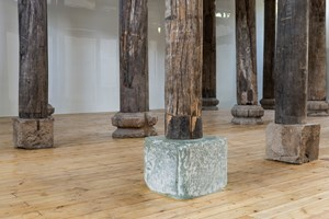 AI WEIWEI Crystal Pillar Foundation 2015. Crystal and writing on paper 52 x 52 x 41,5 cm. Courtesy: the artist and GALLERIA CONTINUA, San Gimignano / Beijing / Les Moulins. Photo by: Oak Taylor-Smith