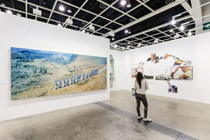 Maurizio Cattelan, and John Baldessari, Marian Goodman Gallery, Art Basel in Hong Kong (29–31 March 2019). Courtesy Ocula. Photo: Charles Roussel.