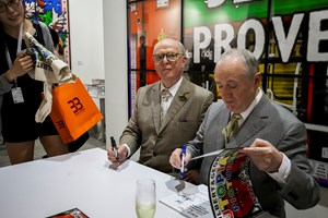 Art Stage Singapore 2015, Gilbert & George book signing. Photo: © Dawn Chua & Ocula