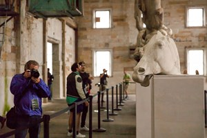 Xu Zhen (Produced by MadeIn Company), 'Eternity', 2013–14. nstallation view of the 20th Biennale of Sydney (2016) at Cockatoo Island.  Courtesy the artist. Produced by MadeIn Company. Collection of White Rabbit Gallery, Sydney. Photographer: Leïla Joy.