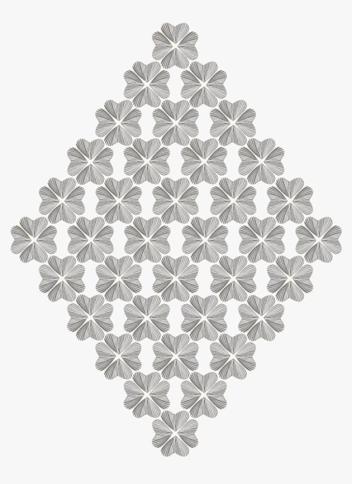 Albert Yonathan Setyawan, Mystic Flowers (2014). Ceramic. 100 × 130 × 3.5 cm. © Albert Yonathan Setyawan. Courtesy Mizuma Gallery, Singapore/Tokyo.