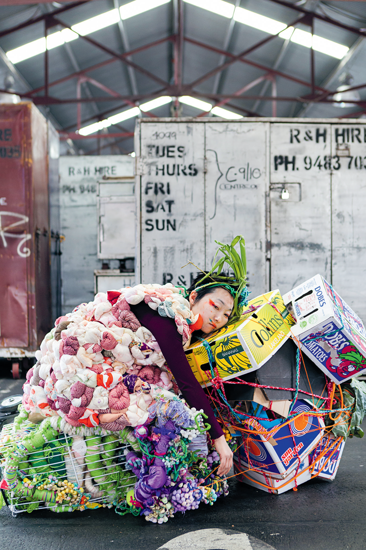 Hiromi Tango, Wrapped (2016). Installation view: What Happens Now, Public Art Melbourne Biennial Lab (17–23 October 2016). Courtesy the artist and Sullivan+Strumpf, Singapore/Sydney.