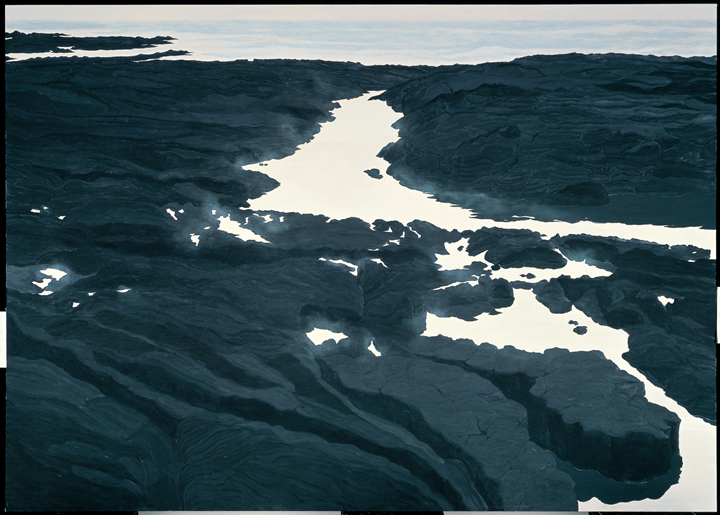 Hiroshi Senju, Flatwater #4 (1993). Natural pigment on Japanese mulberry paper.  162 × 227 cm. Courtesy the artist.