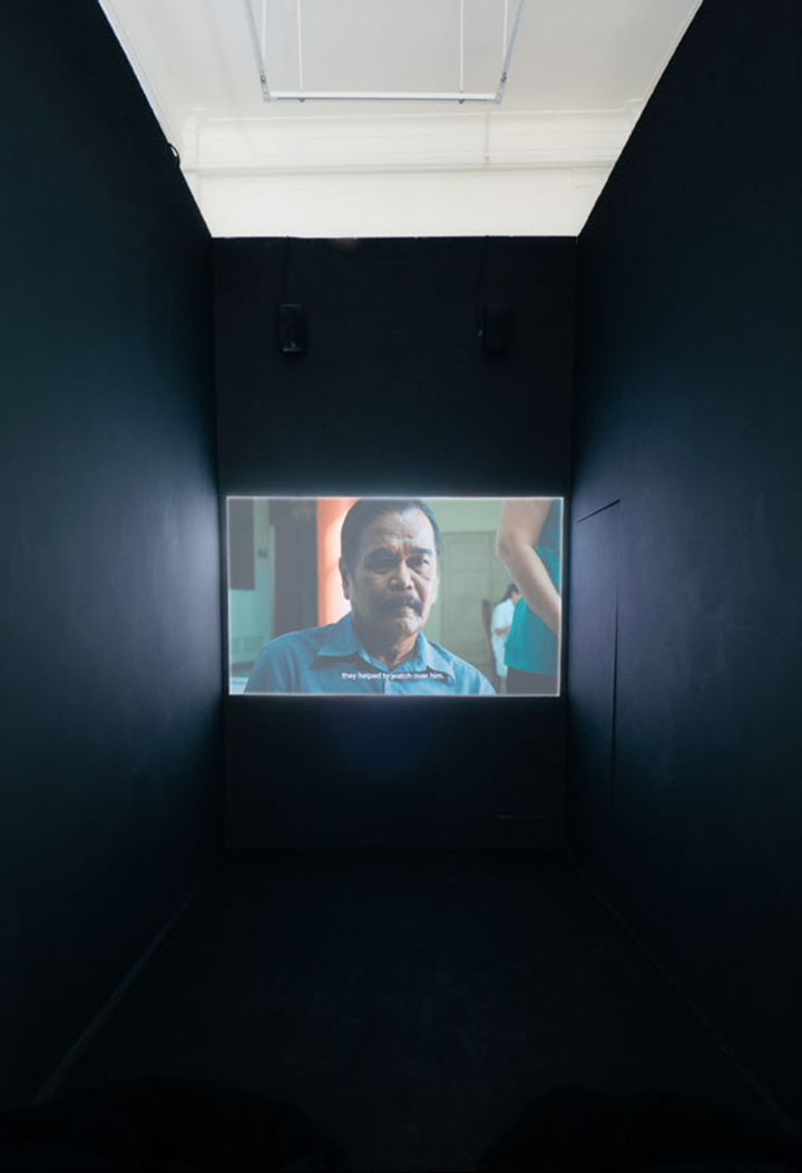 Boo Junfeng, Parting (2015) (Still) Digital short film. 12 min 59 sec. Installation view: The Third Script, Pearl Lam Galleries, Gillman Barracks, Singapore (7 May–19 June 2016). Courtesy the artist and Pearl Lam Galleries.