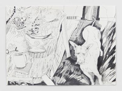 Chris Huen Sin Kan, Doodood (2020). Pencil on paper. 29.7 x 42 cm. Courtesy the artist and Simon Lee Gallery. © Chris Huen Sin Kan. Photo: Ben Westoby.