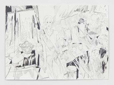 Chris Huen Sin Kan, Haze and Joel (2020). Work on paper. 29.7 x 42 cm. Courtesy the artist and Simon Lee Gallery. © Chris Huen Sin Kan. Photo: Ben Westoby.