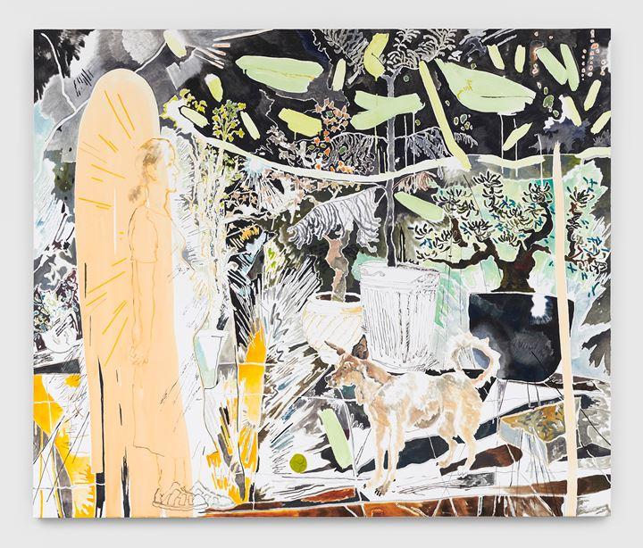 Chris Huen Sin Kan, Haze and MuiMui (2020). Oil on canvas. 220 x 260 x 5. Courtesy the artist and Simon Lee Gallery. © Chris Huen Sin Kan. Photo: Ben Westoby.