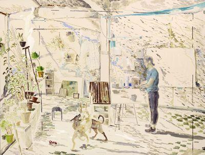 Chris Huen Sin Kan, Doodood, Mui Mui and Haze (2014). Oil on canvas. 120 x 160 cm. Courtesy the artist.