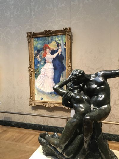 Pierre-Auguste Renoir, Dance at Bougival (1883) on view at Museum of Fine Arts in Boston.