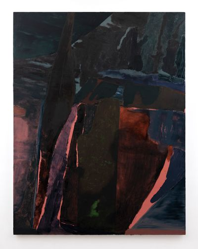Biraaj Dodiya, Sirens (2020). Oil on linen. 198.12 x 152.4 cm.