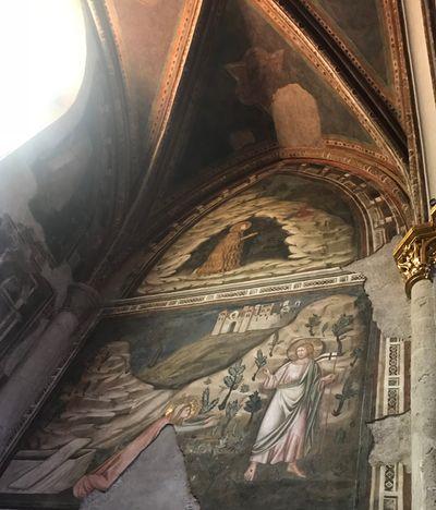 Piero della Francesca frescoes in Arezzo.