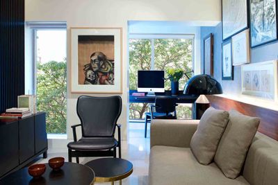 Artworks on view in the home of Udit Bhambri.
