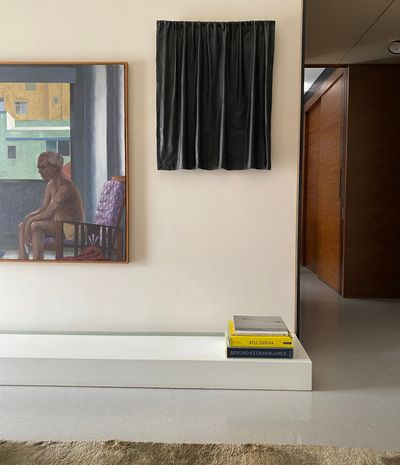 Sudhit Patwardhan, The Abstractionist (2005) on view in Udit Bhambri's home.