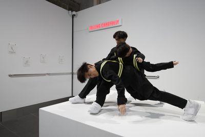 Isaac Chong Wai, Falling Carefully (2020). Exhibition view: Next Act: Contemporary Art from Hong Kong, Asia Society, Hong Kong (30 June–27 September 2020).