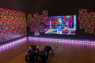 Lu Yang, The Great Adventure of the Material World (2019). Exhibition view: Micro Era: Media Art from China, KulturForum, Berlin (5 September 2019–26 January 2020).