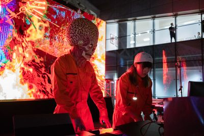 Performance view: Lu Yang, Electromagnetic Brainology, Powerlong Art Centre, Hangzhou (2018).