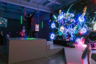 "Lu Yang, ""Smart RikuRiku"" Returns to the TOP! Dance Battle, performance at RAM HIGHLIGHT 2018: Is It My Body?, Rockbund Art Museum, Shanghai (29 September–4 October 2018)."