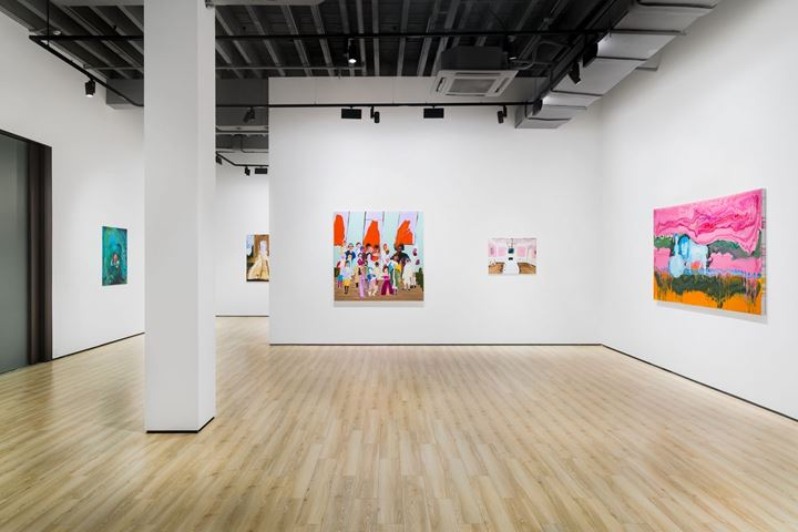 Exhibition view: Genieve Figgis, Floating World, Almine Rech, Shanghai (20 September 2019–19 October 2019). Courtesy of Almine Rech.
