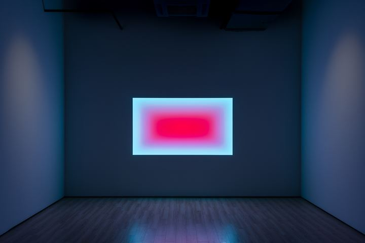 James Turrell, City of Light (2019). 121 x 213 cm. Exhibition view: James Turrell, Almine Rech, Shanghai (5 November–21 December 2019). © James Turrell. Courtesy the artist and Almine Rech. Photo: Alessandro Wang.