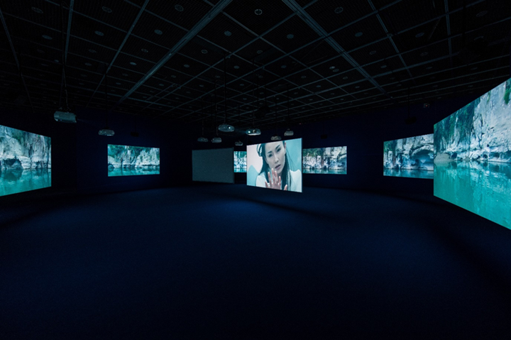 Isaac Julien, Ten Thousand Waves (2010). Exhibition view: The Rebellion of Moving Image, Museum of Contemporary Art Taipei (3 March–6 May 2018). Courtesy Museum of Contemporary Art Taipei.
