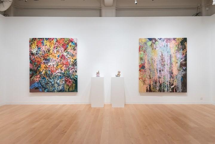 Exhibition view: Hyon Gyon, Cruel World, Ben Brown Fine Arts, Hong Kong (21 September–9 November 2017). Courtesy Ben Brown Fine Arts.