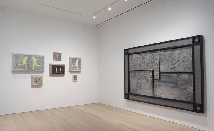 Exhibition view: Richard Artschwager, Primary Sources, Gagosian, New York (16 January–23 February 2019). Artwork © 2019 Richard Artschwager / Artists Rights Society (ARS), New York. Courtesy Gagosian. Photo: Rob McKeever.