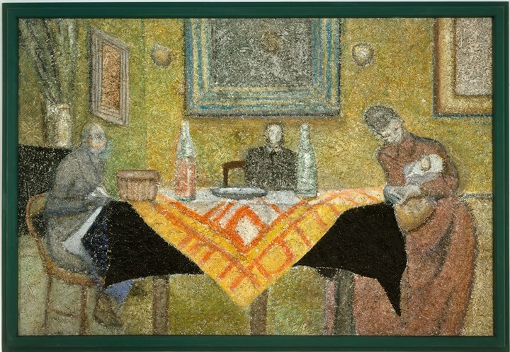 Bob Monk, Recollection (Vuillard) (2004). Acrylic on fibre panel, in painted wood artist's frame. 129.5 x 188 cm. © 2019 Richard Artschwager / Artists Rights Society (ARS), New York. Courtesy Gagosian.