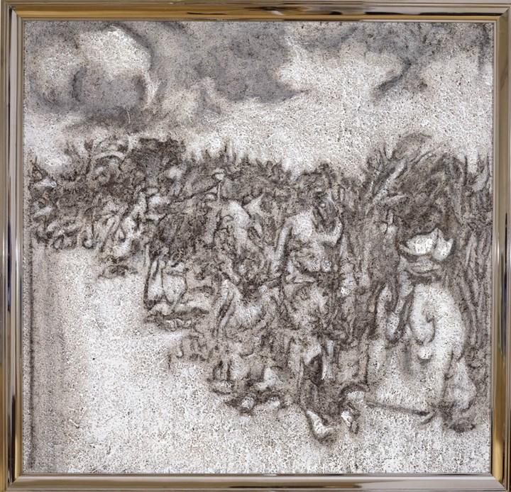 Richard Artschwager, Excursion (2002). Acrylic, fibre panel on Celotex in artist's frame. 122.6 x 127 cm. © 2019 Richard Artschwager / Artists Rights Society (ARS), New York. Courtesy Gagosian.