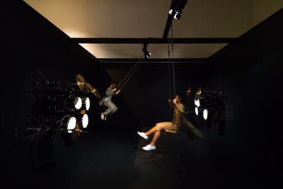 Cao Fei, Coming Soon: Hong Kong (2018). Performance installation. Exhibition view: Cao Fei, A Hollow in a World Too Full, Tai Kwun, Hong Kong (8 September 2018–4 January 2019). Courtesy Tai Kwun.