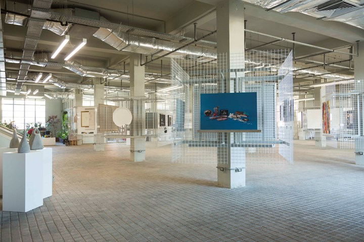 Exhibition view: 25th Anniversary Exhibition, Ashkal Alwan, Beirut (14–18 December 2018). Designed by architect Maroun Lahoud at the Home Workspace. Courtesy Ashkal Alwan. Photo: Chantale Fahmi.