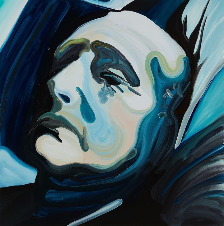 Clare Woods, The Allnighter (2019). Oil on aluminium. 150 x 150 x 3 cm. Courtesy Simon Lee Gallery.