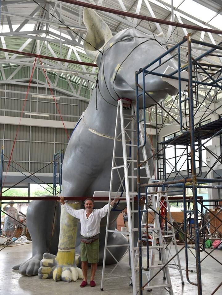 Production of Aurèle Ricard's commission, LostDog at Ladkrabang. Courtesy Bangkok Art Biennale.