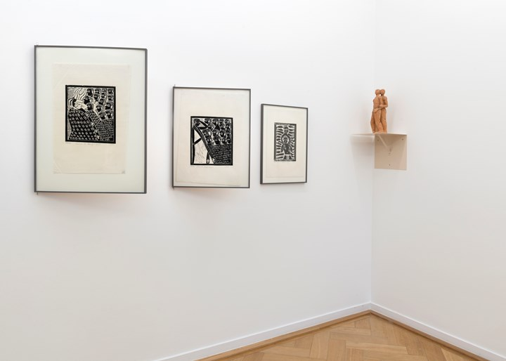 Exhibition view: A Labour of Love, Weltkulturen Museum, Frankfurt (3 December 2015–24 July 2016). Curated by Gabi Ngcobo with Dr. Yvette Mutumba. Photo: Wolfgang Günzel.