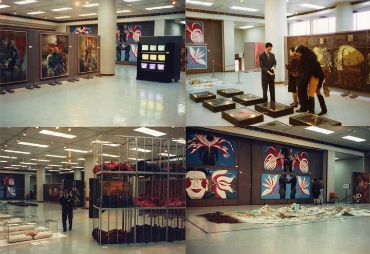 Exhibition view: China's New Art, Post-1989, Hong Kong Arts Centre (30 January–28 February 1993). Courtesy Hanart TZ Gallery.