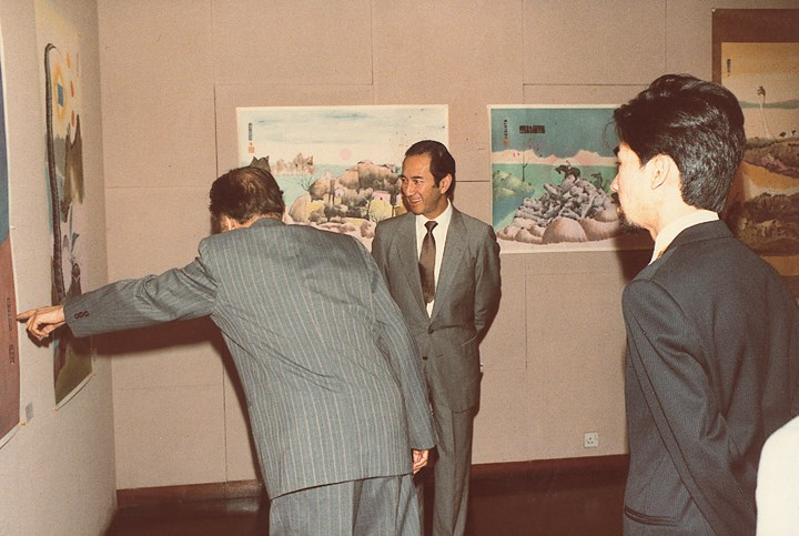 First exhibition of work by Luis Chan at Hanart TZ Gallery, Hong Kong (1983). Courtesy Hanart TZ Gallery.