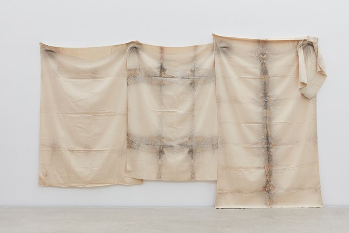 Kim Yong-Ik, Plane Object (1977). Airbrush paint on cloth. Approximately 200 x 370 cm. Courtesy the artist and Kukje Gallery. Photo: Keith Park.
