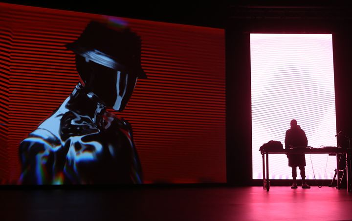 Performance view: Actress + Young Paint (live AI/AV), transmediale 2019, Berlin (31 January–3 February 2019). Courtesy transmediale. Photo: Adam Berry.