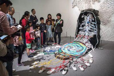 """展览现场:""""集什么?Collecting and So On"""",儿童艺术教育中心,台北市立美术馆(2017年1月7日至9月17日)。图片提供:台北市立美术馆。"""
