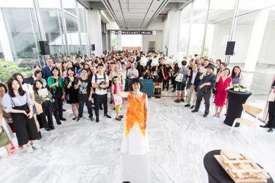 """重新开馆现场:""""筑步‧逐步-重返北美馆"""",台北市立美术馆,台北(2018年7月21日)。图片提供:台北市立美术馆。"""