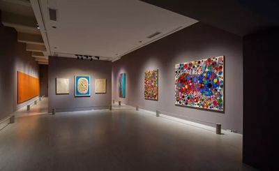 """展览现场:""""她的抽象"""",台北市立美术馆(2019年7月20日至10月27日)。图片提供:台北市立美术馆。"""