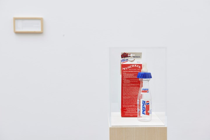 Maryam Jafri, Product Recall: An Index of Innovation. Pepsi Baby (2014–2015). Framed texts, photographs, objects. Courtesy the artist and Laveronica arte contemporanea.
